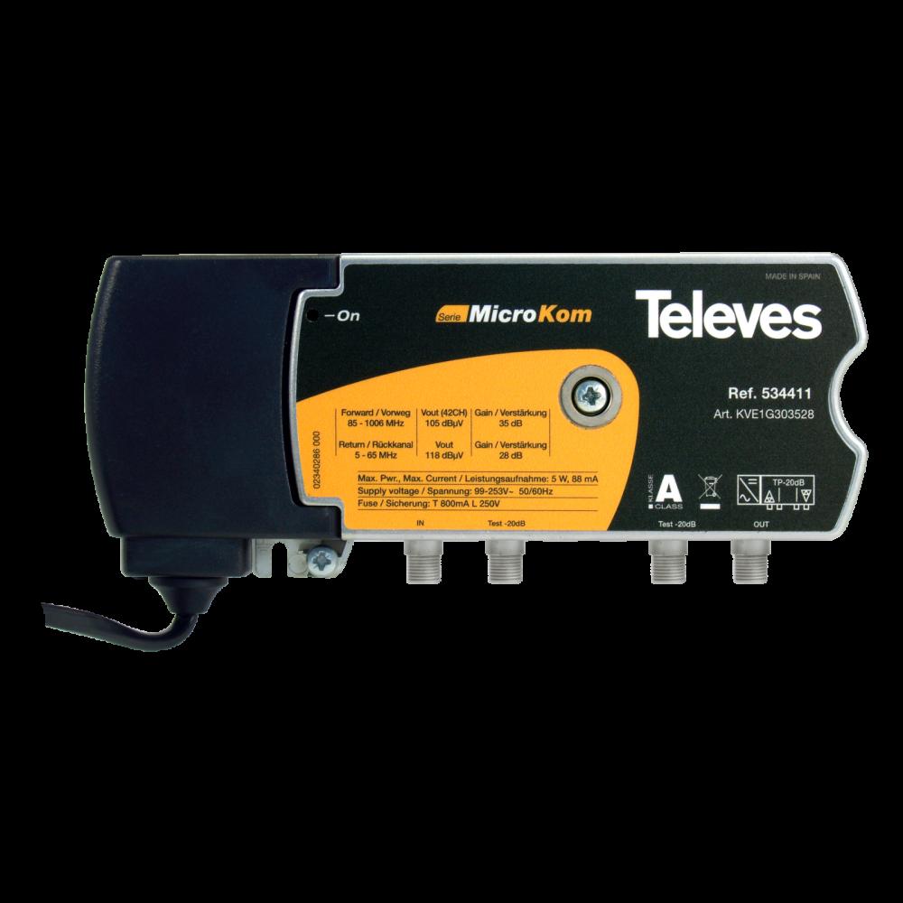 Televes MicroKom bredbandsförstärkare