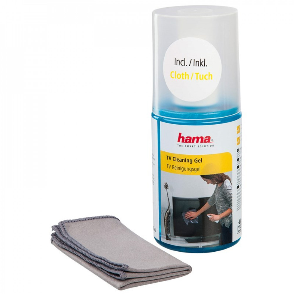 Hama Rengöringsset För LCD/PL Gel 200ml Inkl Duk